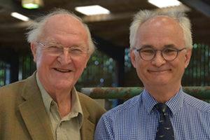 Lord Plumb and John at Blackbrook Longhorn Sale