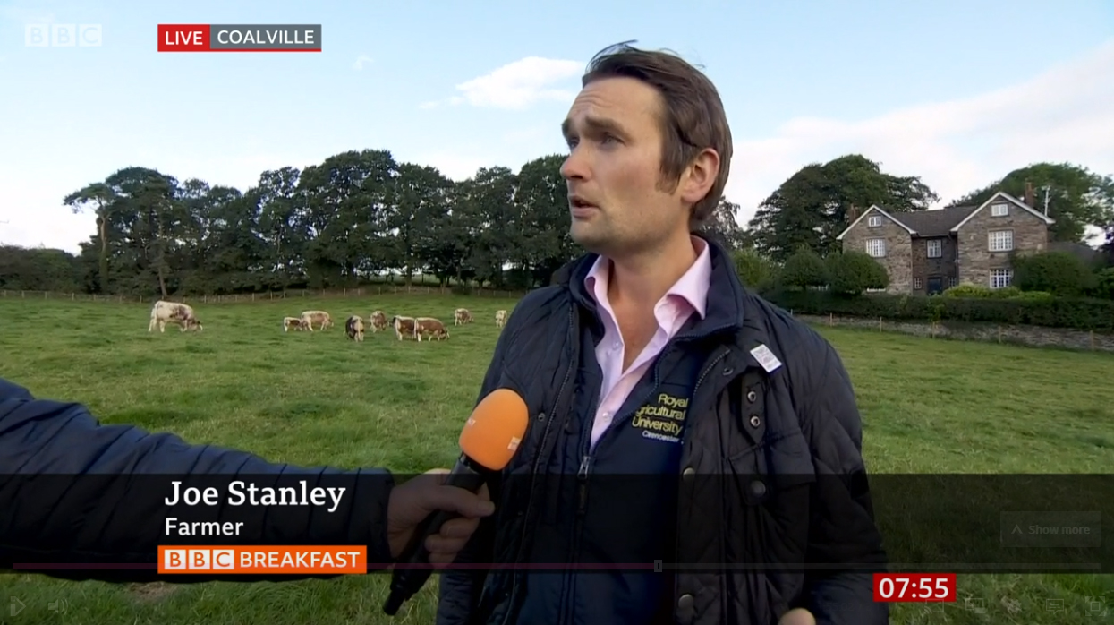 Blackbrook Longhorns Joe On BBC Breakfast
