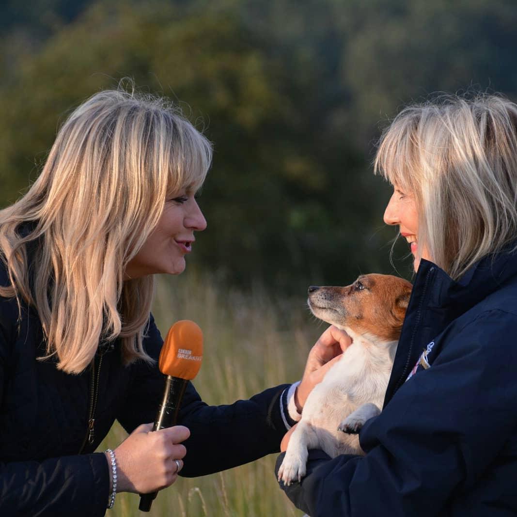Carol Kirkwood Meeting Pat And Poppy Stanley